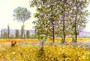 Fields in Spring, Claude Monet