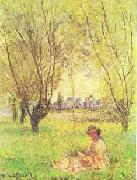 Woman Seated Under the Willows, Claude Monet
