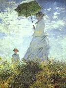 Woman with a Parasol, Claude Monet
