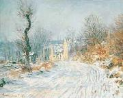 Road to Giverny in Winter, Claude Monet