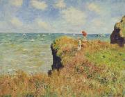 Walk on the Cliff at Pourville, Claude Monet