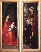 Triptych of Jan Des Trompes (rear of the wings) tye