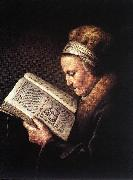 Old Woman Reading a Bible dfg