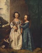 Portrait of Philadelphia and Elisabeth Cary fg, DYCK, Sir Anthony Van