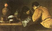 Diego Velazquez Two Men at a Table oil painting