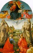 Domenico Ghirlandaio Christ in Heaven with Four Saints and a Donor oil painting