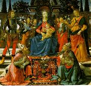 Madonna Enthroned with the Saints  q, Domenico Ghirlandaio
