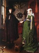 EYCK, Jan van Portrait of Giovanni Arnolfini and his Wife df oil painting artist