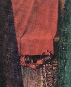 EYCK, Jan van Portrait of Giovanni Arnolfini and his Wife (detail)  yui oil painting artist