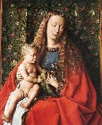 EYCK, Jan van The Madonna with Canon van der Paele (detail) dfg oil painting artist