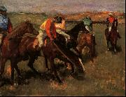 Edgar Degas Before the Race oil painting reproduction