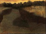 Wheatfield and Row of Trees, Edgar Degas