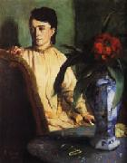 Woman with Porcelain Vase, Edgar Degas