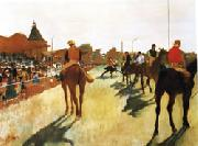 Race Horses before the Stands, Edgar Degas