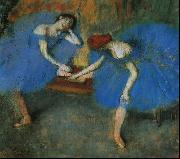 Two Dancers in Blue, Edgar Degas