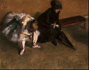 Waiting, Edgar Degas
