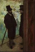 Halevy and Cave Backstage at the Opera, Edgar Degas