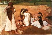 Three Women Combing their Hair, Edgar Degas