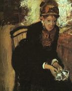 Portrait of Mary Cassatt, Edgar Degas