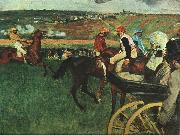 Edgar Degas At the Races oil painting picture wholesale
