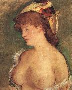 Blond Woman with Bare Breasts, Edouard Manet