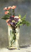 Carnations and Clematis in a Crystal Vase, Edouard Manet