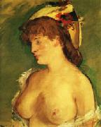 Blonde Woman with Naked Breasts, Edouard Manet