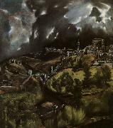 El Greco View of Toledo oil painting