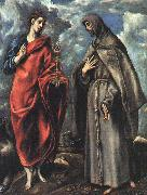 El Greco Saints John the Evangelist and Francis oil painting