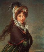 Elisabeth LouiseVigee Lebrun Portrait of a Young Woman-p oil painting artist