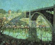 Ernest Lawson Spring Night at Harlem River oil painting