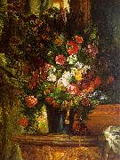 Eugene Delacroix Bouquet of Flowers on a Console_3 USA oil painting reproduction
