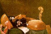 Evaristo Baschenis Still Life of Musical Instruments USA oil painting reproduction