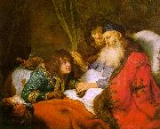 FLINCK, Govert Teunisz. Isaac Blessing Jacob dfg oil painting