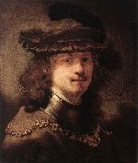 FLINCK, Govert Teunisz. Portrait of Rembrandt df oil painting