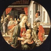 Fra Filippo Lippi Madonna and Child with Stories from the Life of St.Anne oil painting