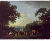 Francesco Zuccarelli Landscape with the Rape of Europa oil painting