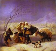 The Snowstorm, Francisco Jose de Goya