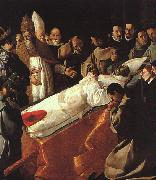 Francisco de Zurbaran The Lying in State of St.Bonaventura oil painting