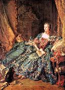 Francois Boucher The Marquise de Pompadour oil painting