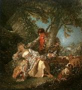 Francois Boucher The Sleeping Shepherdess oil painting