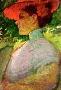 Lady With a Red Hat, Frank Duveneck