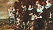 A Family Group in a Landscape, Frans Hals