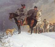 Prussian Cavalry Outpost in the Snow