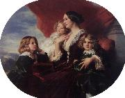 Elzbieta Branicka, Countess Krasinka and her Children, Franz Xaver Winterhalter