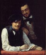 Self Portrait of the Artist with his Brother, Hermann, Franz Xaver Winterhalter