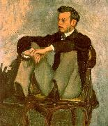 Frederic Bazille Portrait of Renoir oil painting