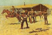 Coming and Going of the Pony Express, Frederick Remington