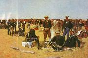 A Cavalryman's Breakfast on the Plains, Frederick Remington