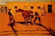 His First Lesson, Frederick Remington